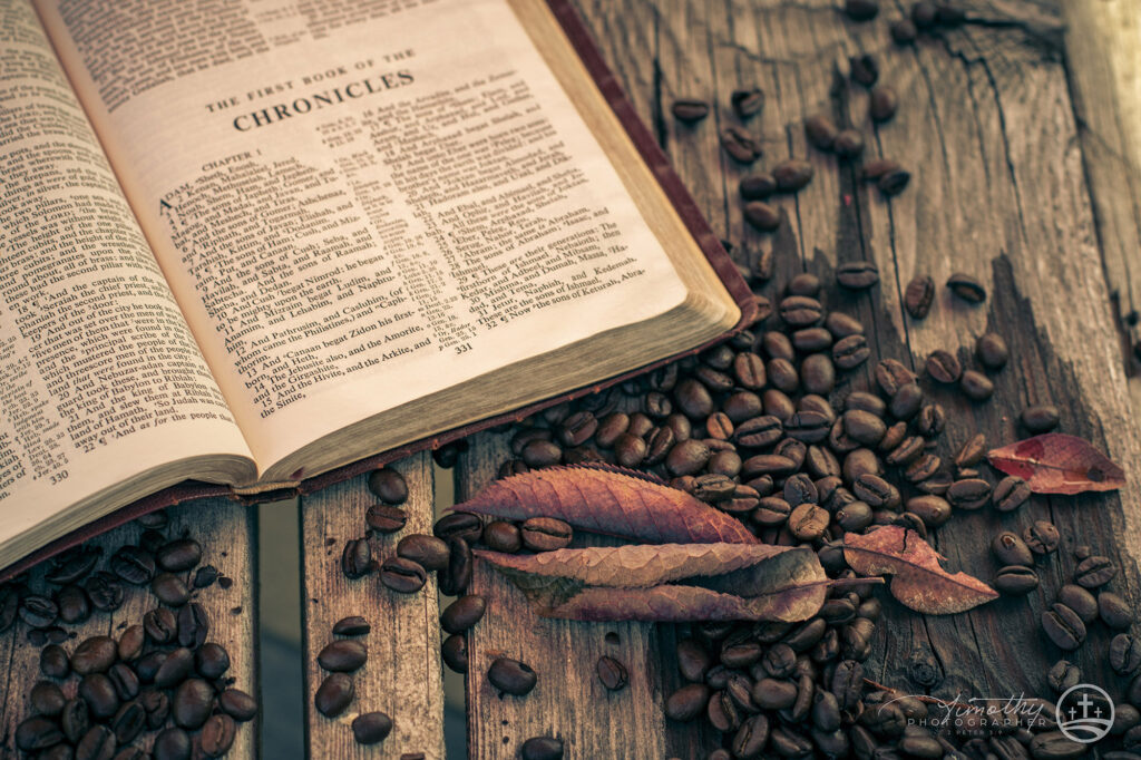 Bible and Coffee Beans