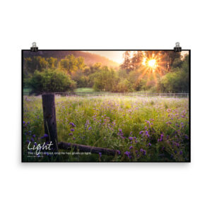 God is light poster without the frame