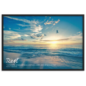 Rest in the Lord – Framed matte paper poster
