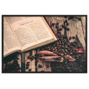 Coffee and Jesus – Framed matte paper poster