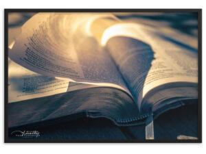 God's Inspired Word – Framed matte paper poster