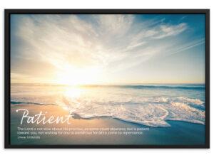 God is Patient – Framed matte paper poster