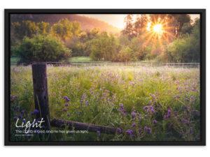 God's Amazing Light – Framed matte paper poster