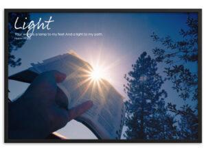 Light – Framed matte paper poster