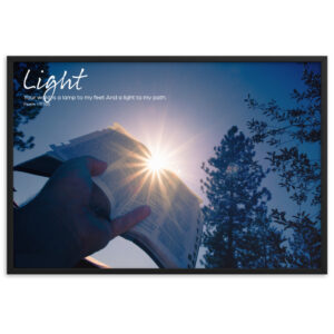 Light – Framed matte paper poster