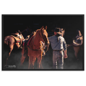 Morning Ride – Framed matte paper poster