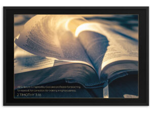 Inspired Word of God – Framed matte paper poster