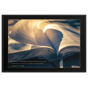 Inspired Word of God – Framed matte paper poster