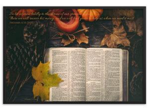 October – Framed matte paper poster