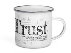 Proverbs 3:5 Enamel Mug