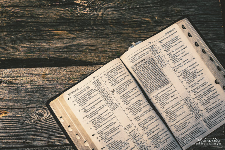 free image of bible on rustic wood