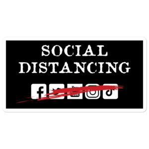 Social Distancing – Bubble-free stickers