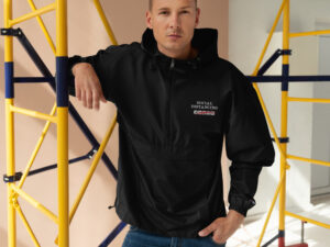 Social Distancing Embroidered Champion Packable Jacket