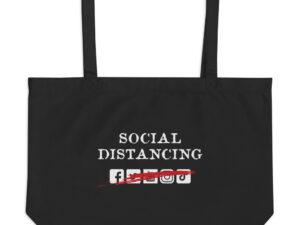 Social Distancing Large organic tote bag