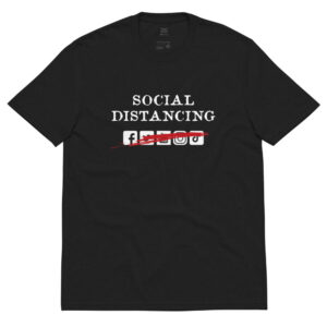 Social Distancing Unisex recycled t-shirt