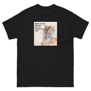 Men's heavyweight Proverbs 19 T-Shirt