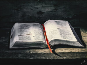 Rustic bible outdoors [desktop wallpaper]
