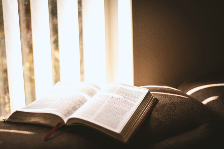 bible on couch